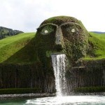 Fountain Head at Swaroski Crystal factory Innsbruck Austria